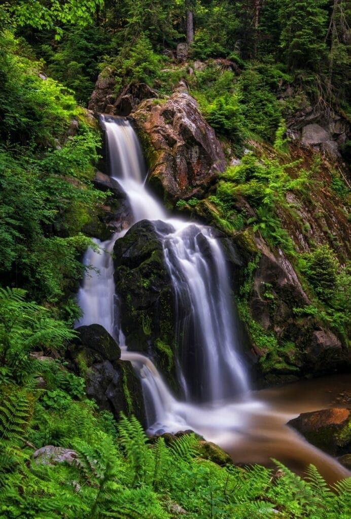 Urlaub daheim in Baden-Würrtemberg. Die Triberger Wasserfälle