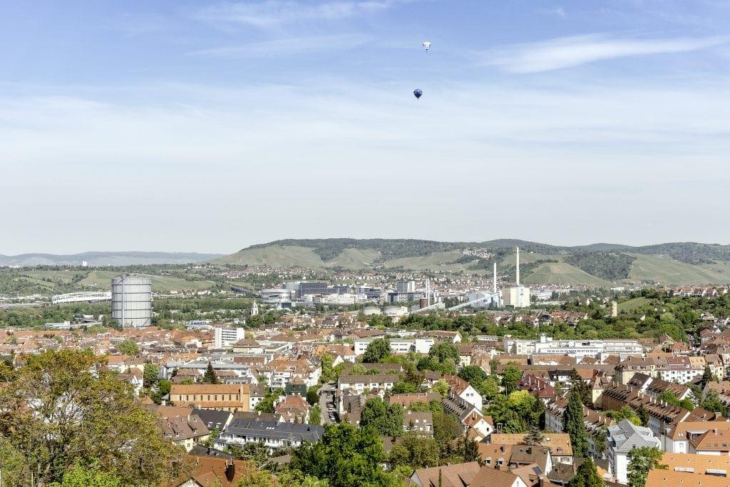 Die Aussicht auf den Kessel von Stuttgart von der Stuttgarter Sternwarte aus