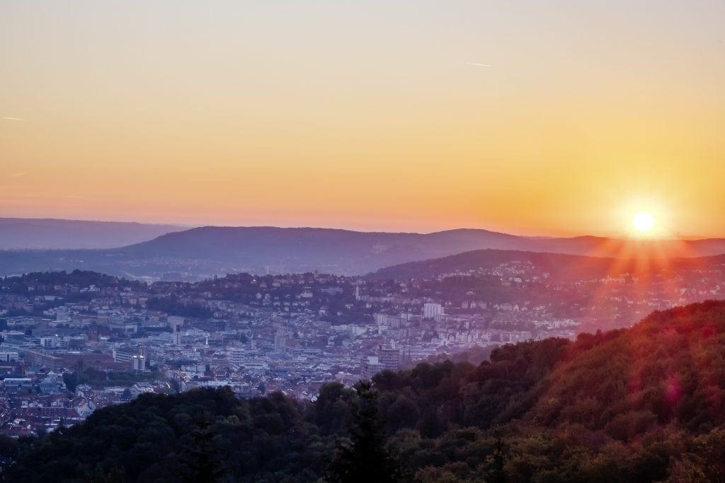 Ausblick vom Monte Scherbelino auf Stuttgart