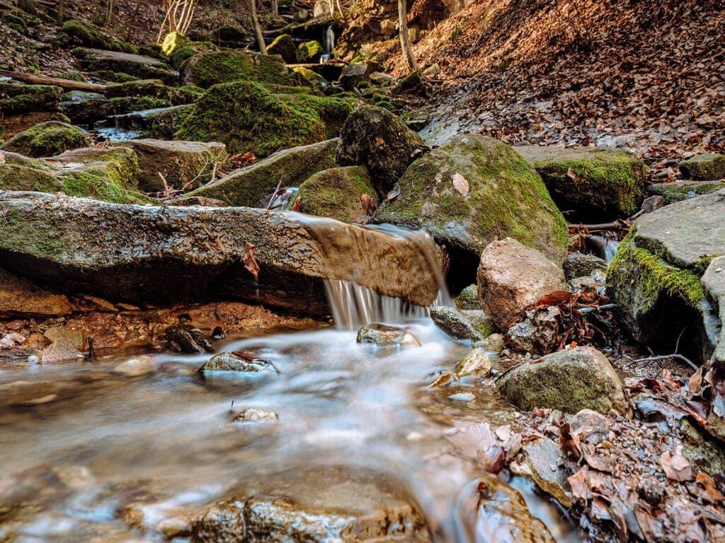 Ausflug Stuttgart - die Heslacher Wasserfälle